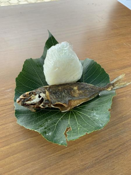 おにぎりと魚の唐揚げ.jpg