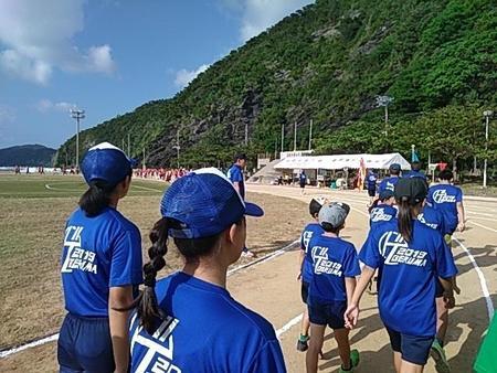 村民運動会 慶留間の入場.jpg
